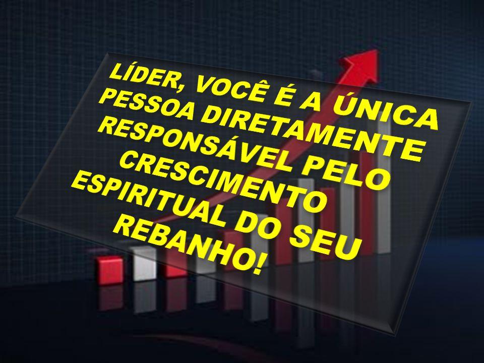 LÍDER, VOCÊ É A ÚNICA PESSOA DIRETAMENTE RESPONSÁVEL PELO CRESCIMENTO ESPIRITUAL DO SEU REBANHO!