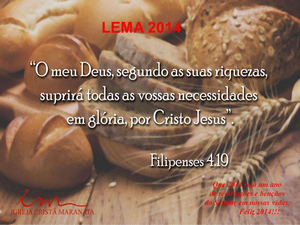 de realizações e bençãos do Senhor em nossas vidas.