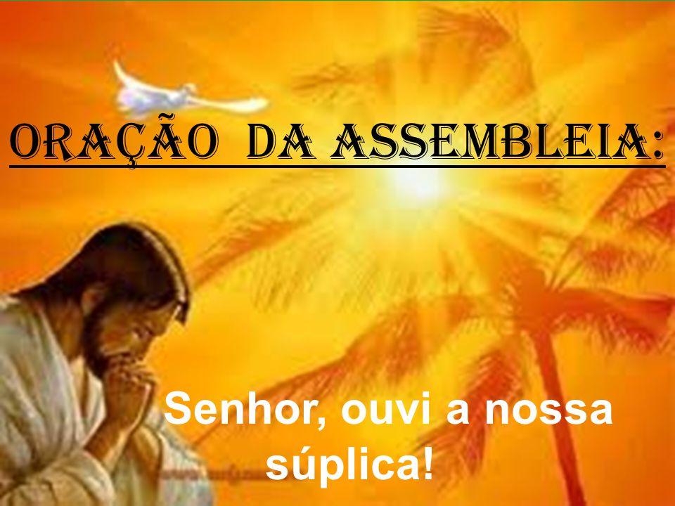 ORAÇÃO DA ASSEMBLEIA: Senhor, ouvi a nossa súplica!