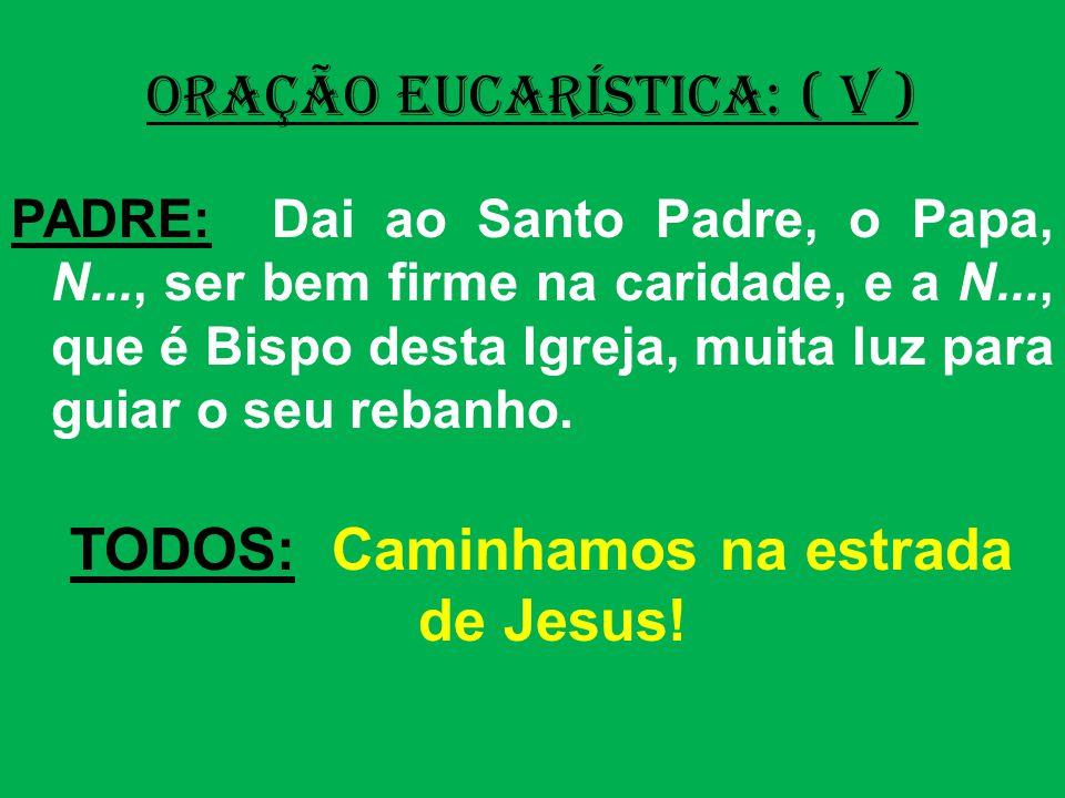TODOS: Caminhamos na estrada de Jesus!