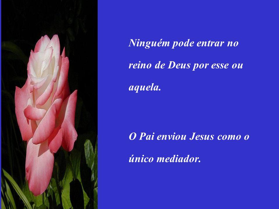 Ninguém pode entrar no reino de Deus por esse ou aquela.