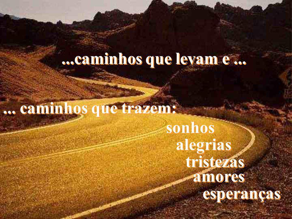 ...caminhos que levam e ... ... caminhos que trazem: sonhos alegrias
