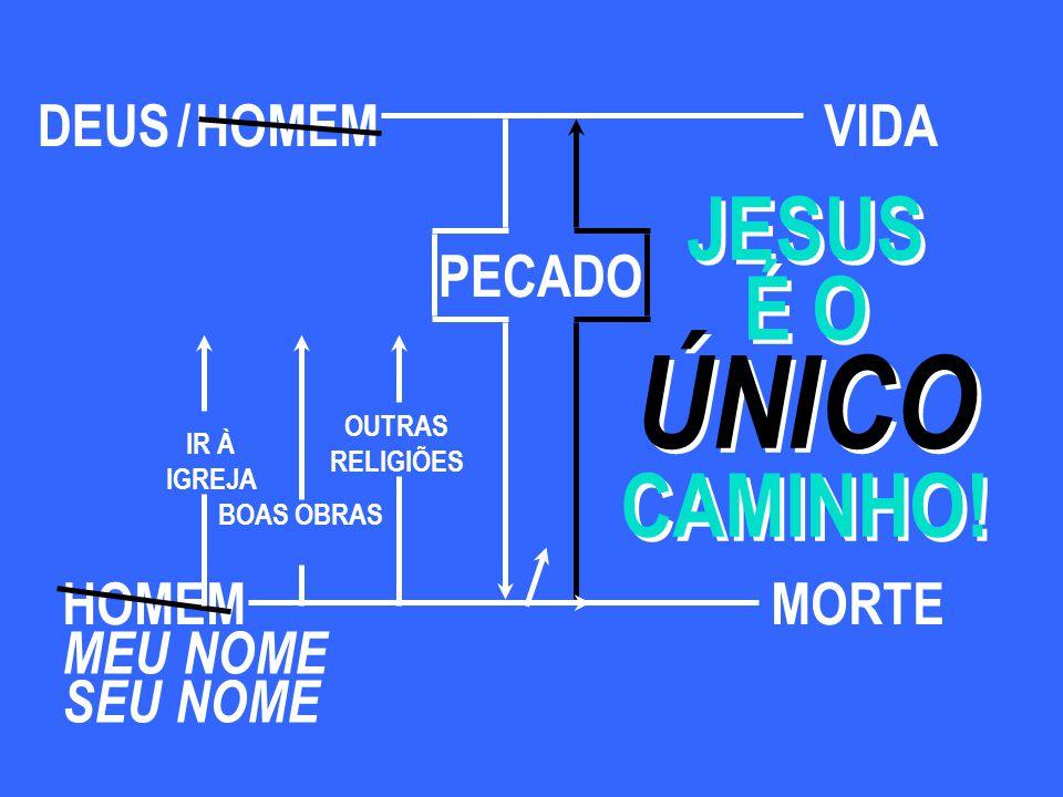 ÚNICO JESUS É O CAMINHO! DEUS / HOMEM VIDA PECADO HOMEM MORTE MEU NOME