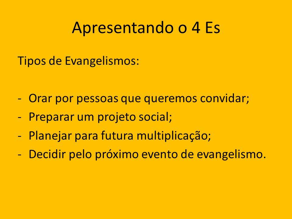 Apresentando o 4 Es Tipos de Evangelismos: