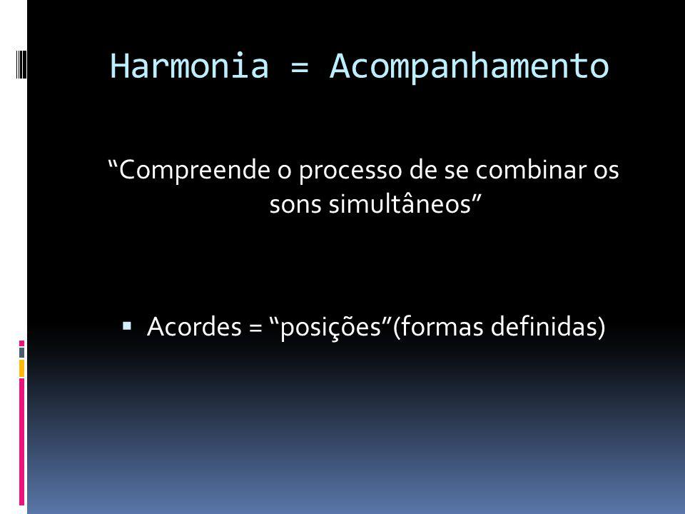 Harmonia = Acompanhamento