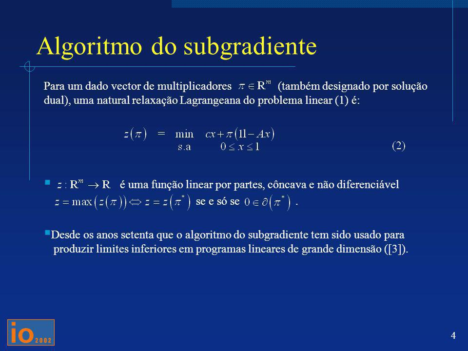 Algoritmo do subgradiente