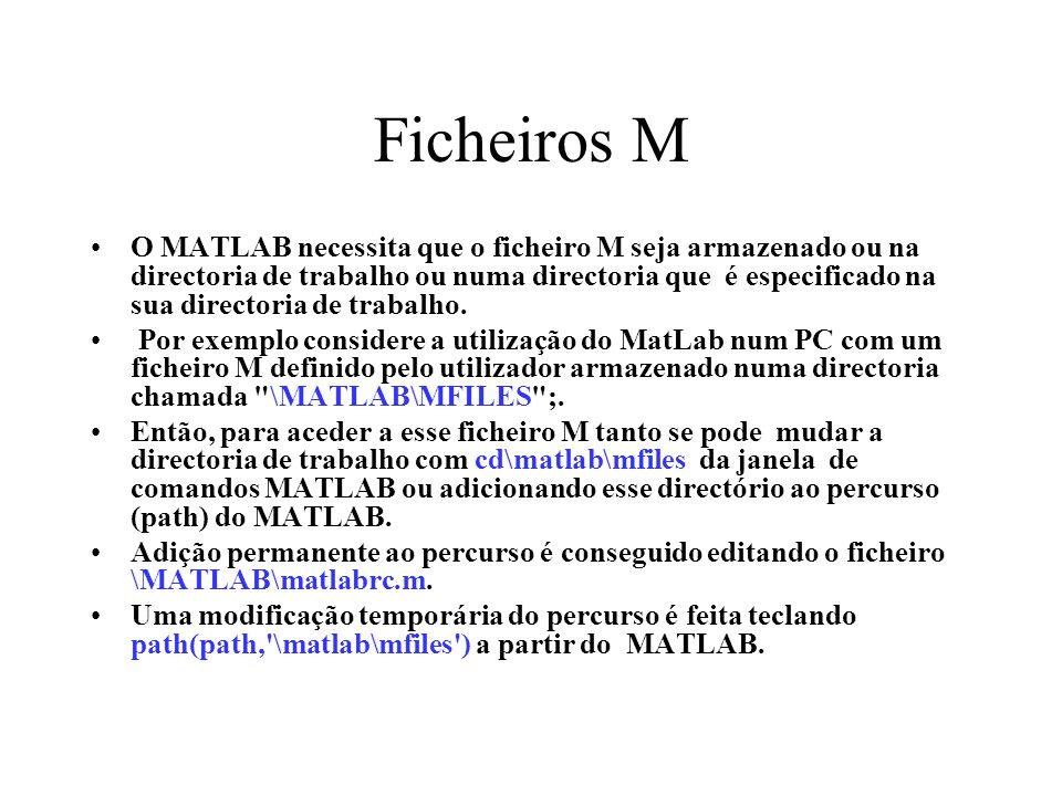 Ficheiros M