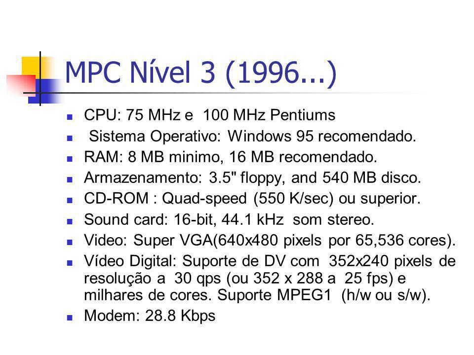 MPC Nível 3 (1996...) CPU: 75 MHz e 100 MHz Pentiums