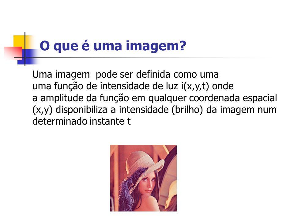 O que é uma imagem Uma imagem pode ser definida como uma