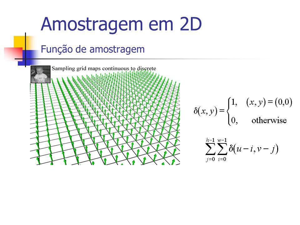 Amostragem em 2D Função de amostragem