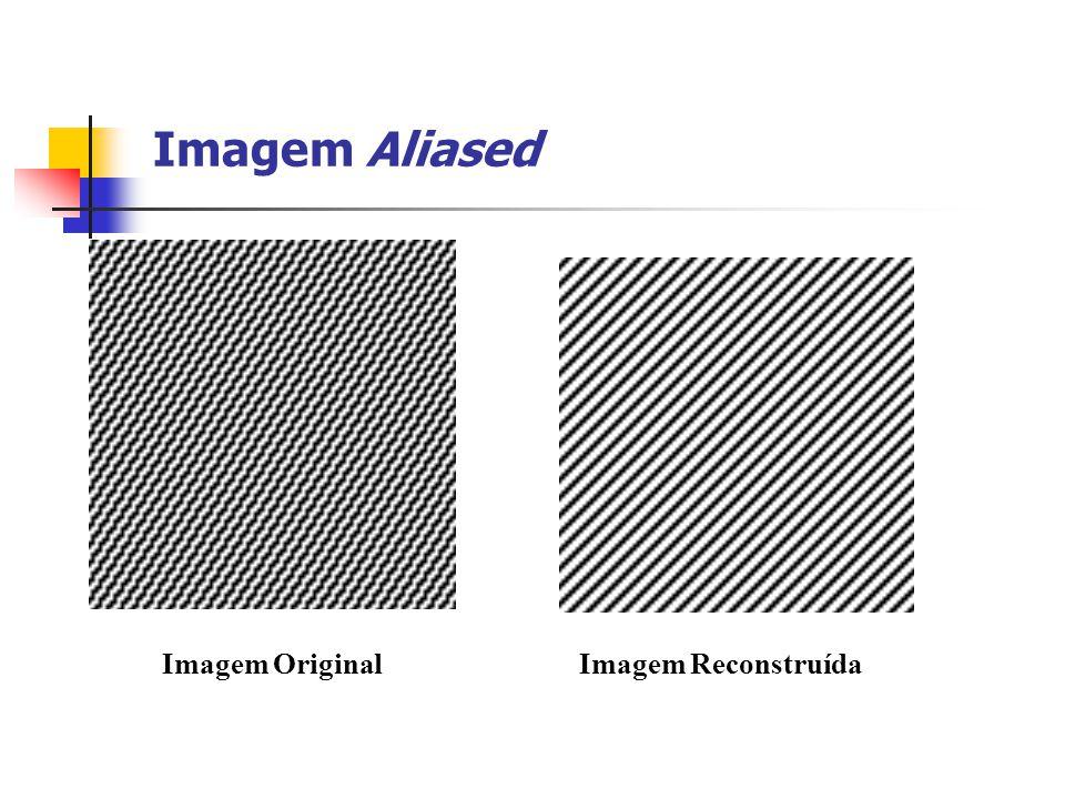 Imagem Aliased Imagem Original Imagem Reconstruída