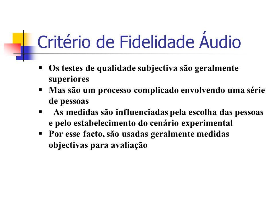 Critério de Fidelidade Áudio