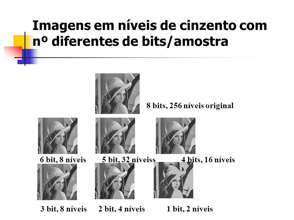 Imagens em níveis de cinzento com nº diferentes de bits/amostra