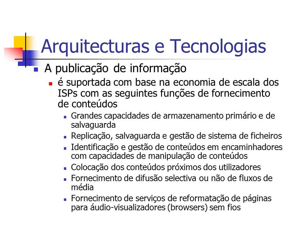 Arquitecturas e Tecnologias