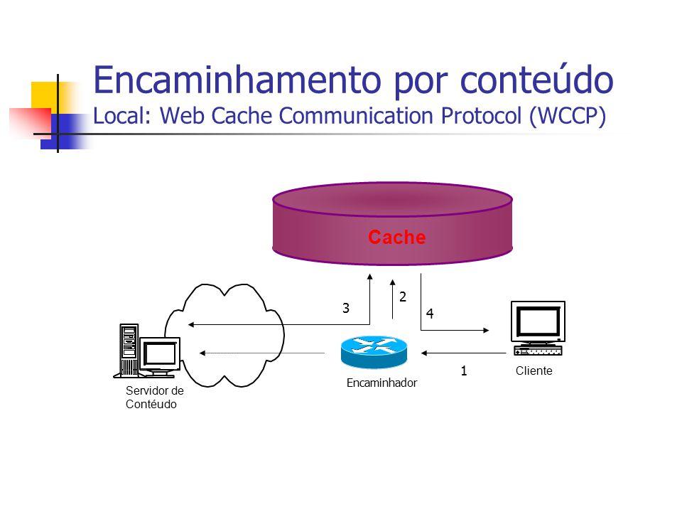 Encaminhamento por conteúdo Local: Web Cache Communication Protocol (WCCP)