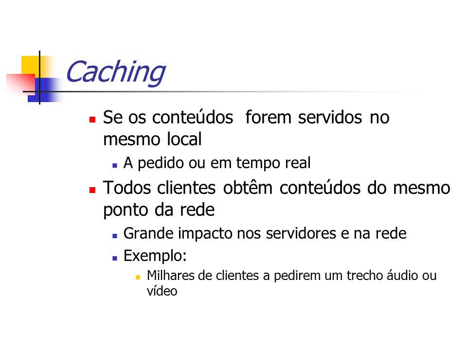 Caching Se os conteúdos forem servidos no mesmo local