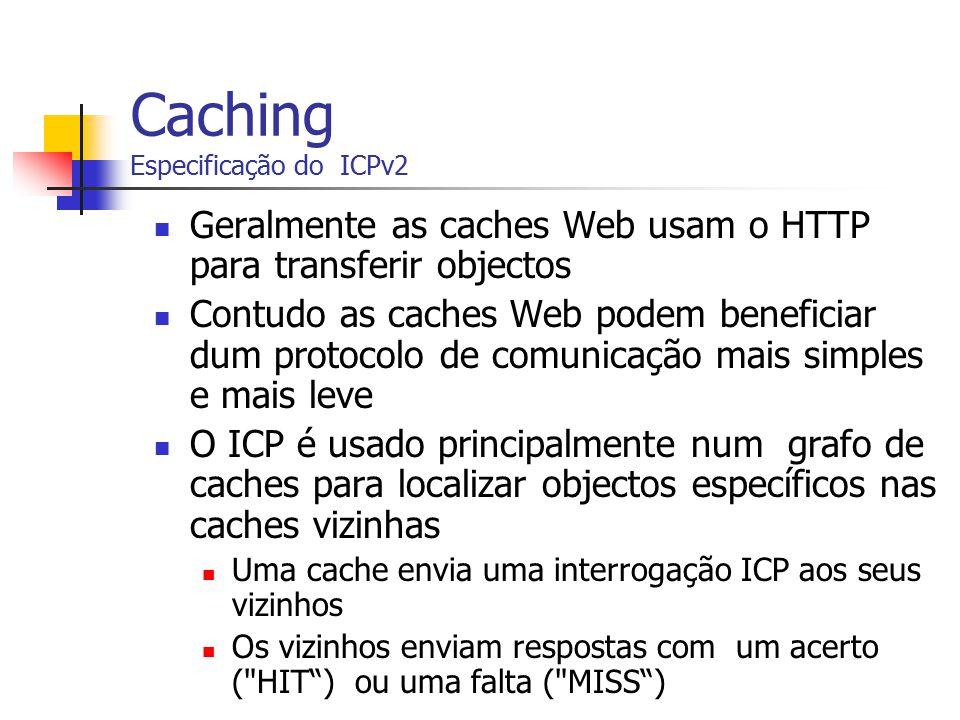 Caching Especificação do ICPv2