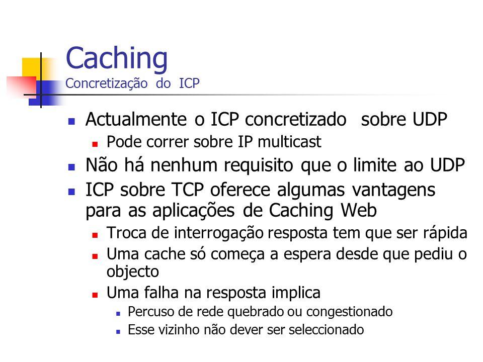 Caching Concretização do ICP
