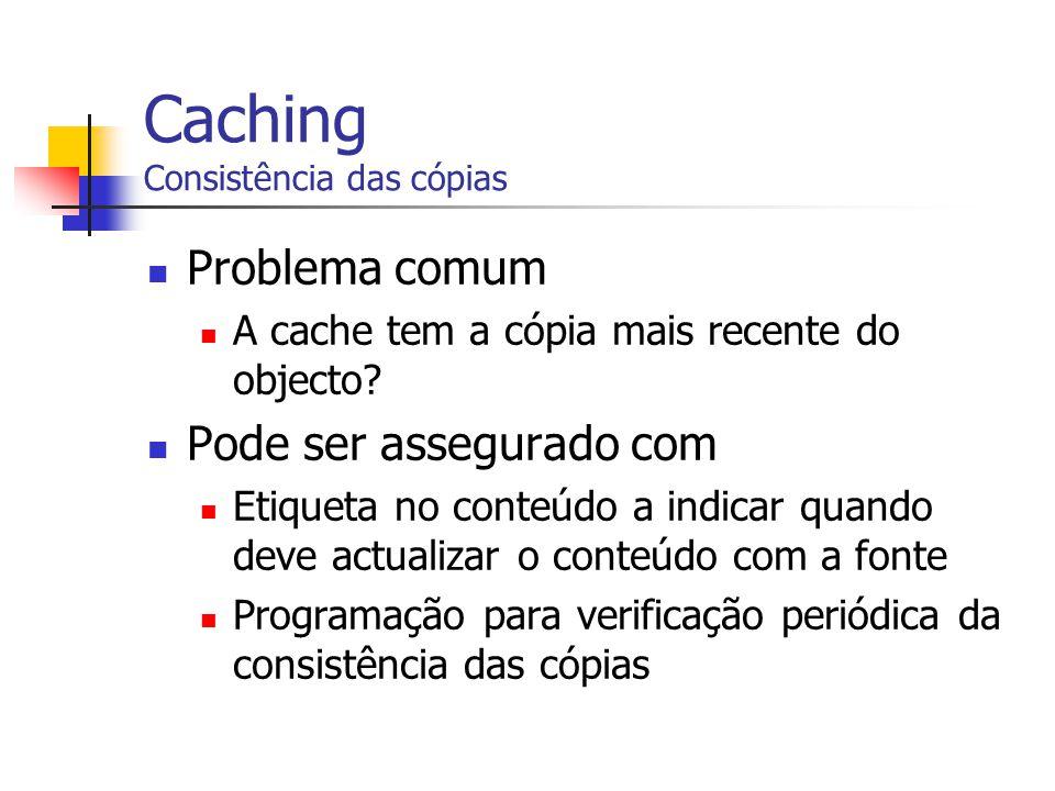 Caching Consistência das cópias