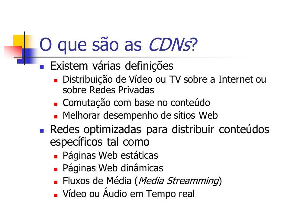 O que são as CDNs Existem várias definições