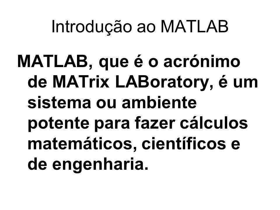 Introdução ao MATLAB