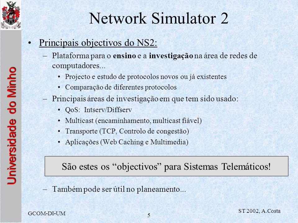 São estes os objectivos para Sistemas Telemáticos!