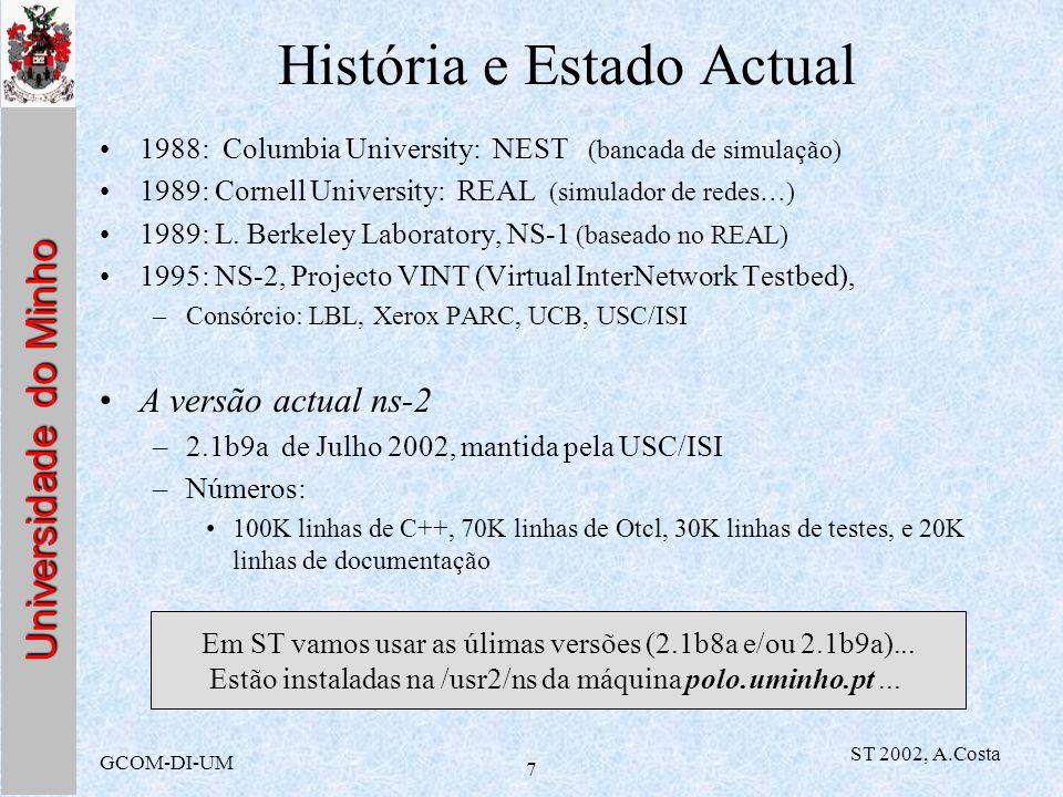 História e Estado Actual