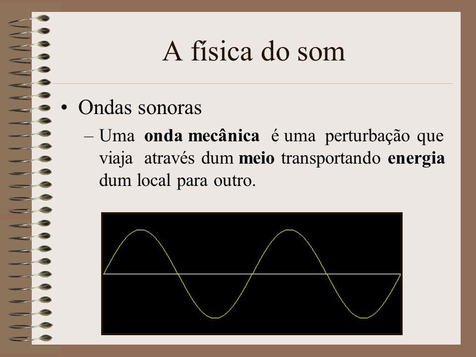 A física do som Ondas sonoras