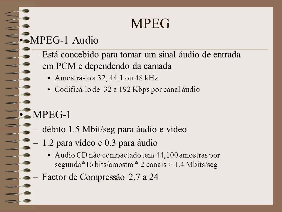 MPEG MPEG-1 Audio. Está concebido para tomar um sinal áudio de entrada em PCM e dependendo da camada.