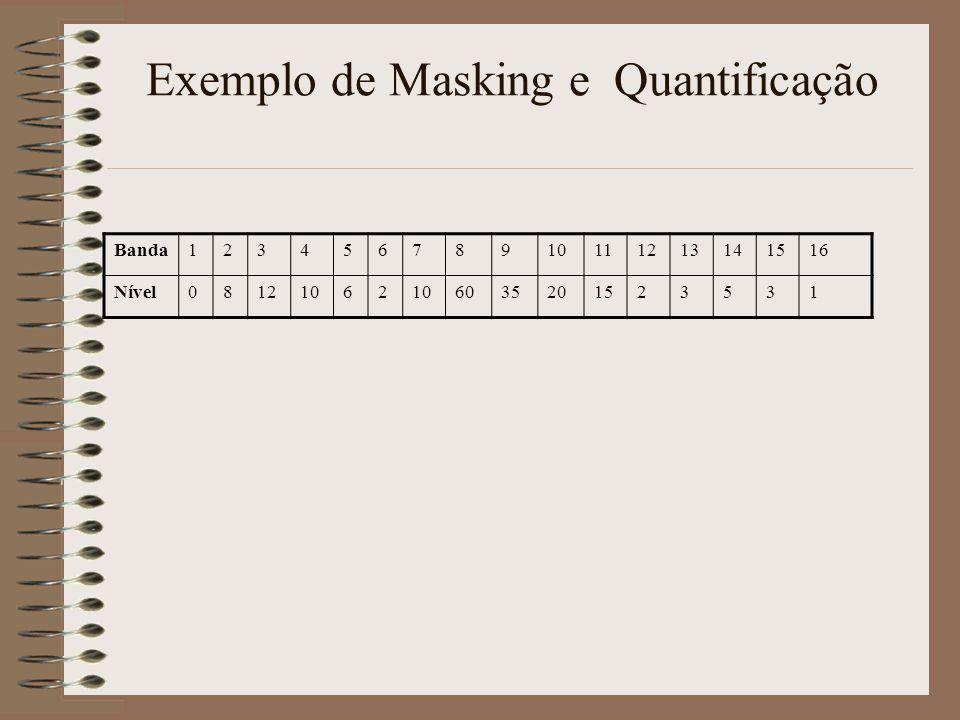 Exemplo de Masking e Quantificação