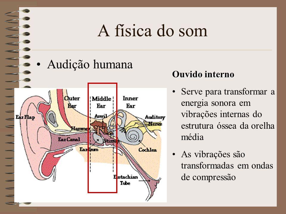 A física do som Audição humana Ouvido interno