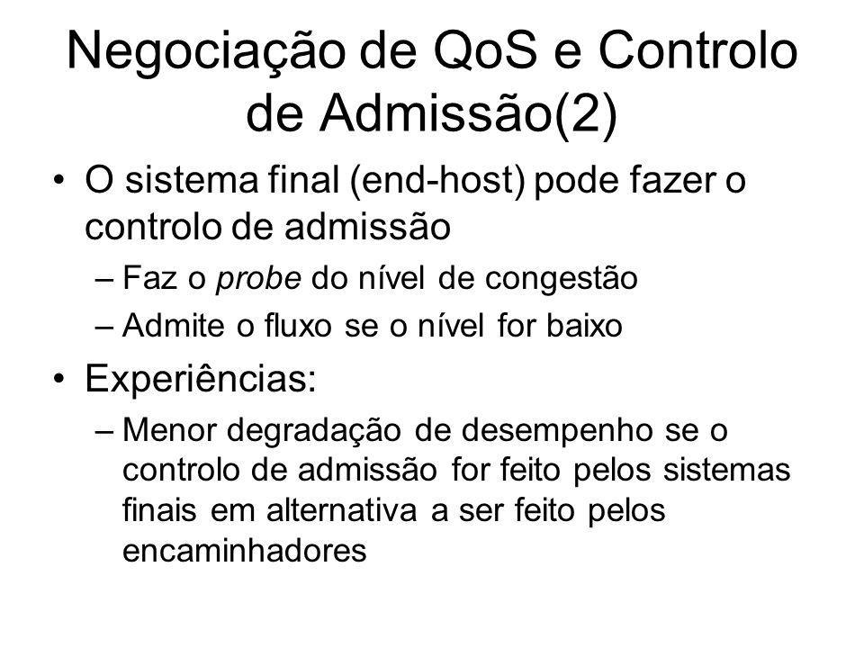 Negociação de QoS e Controlo de Admissão(2)