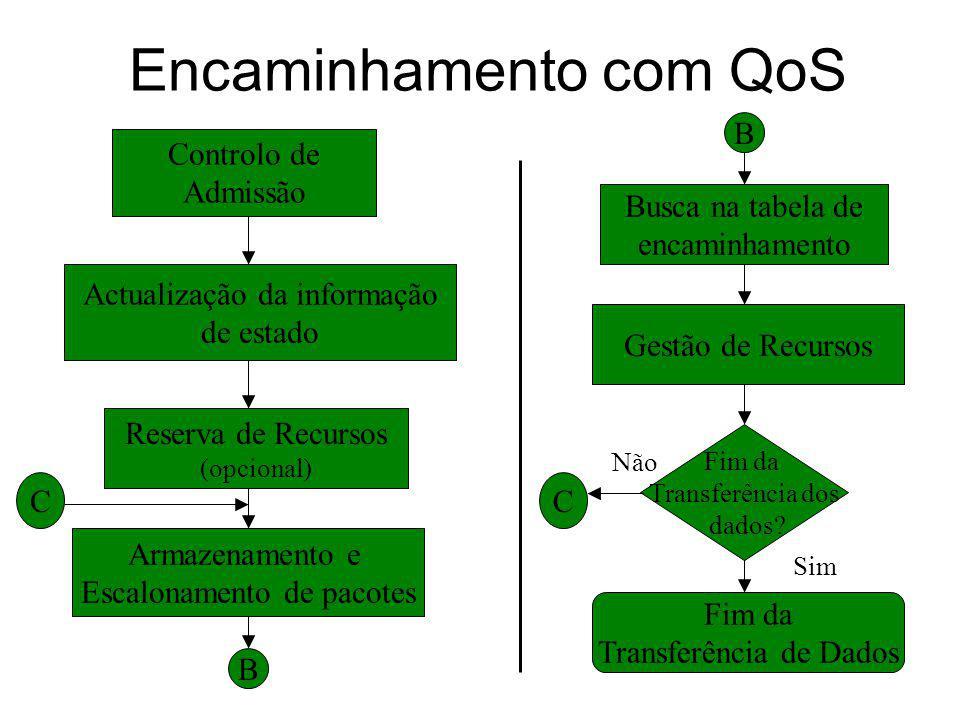 Encaminhamento com QoS