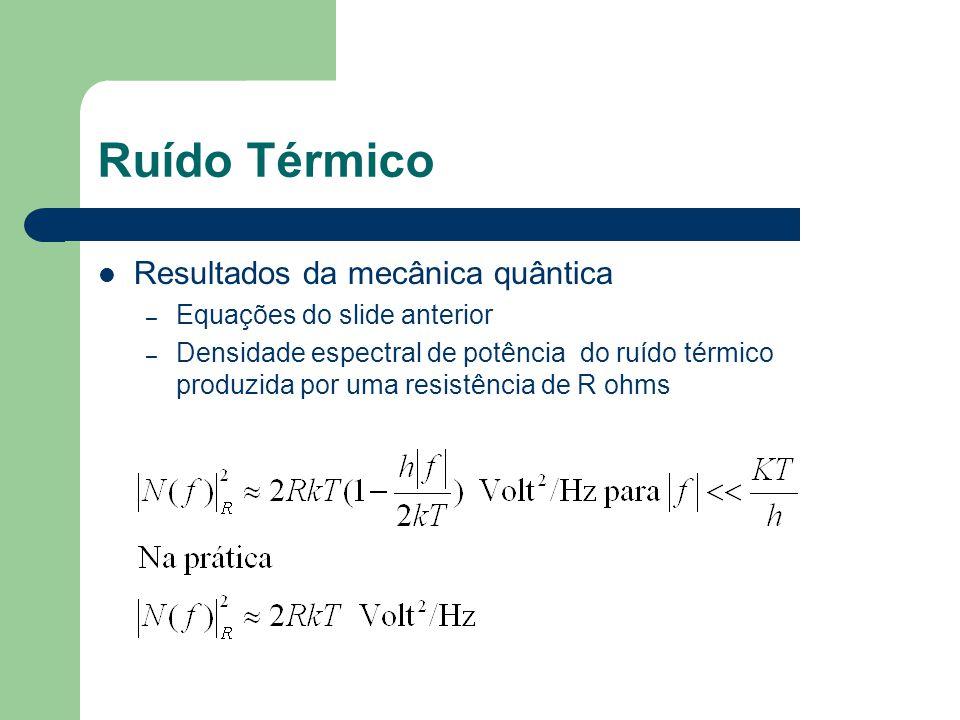 Ruído Térmico Resultados da mecânica quântica