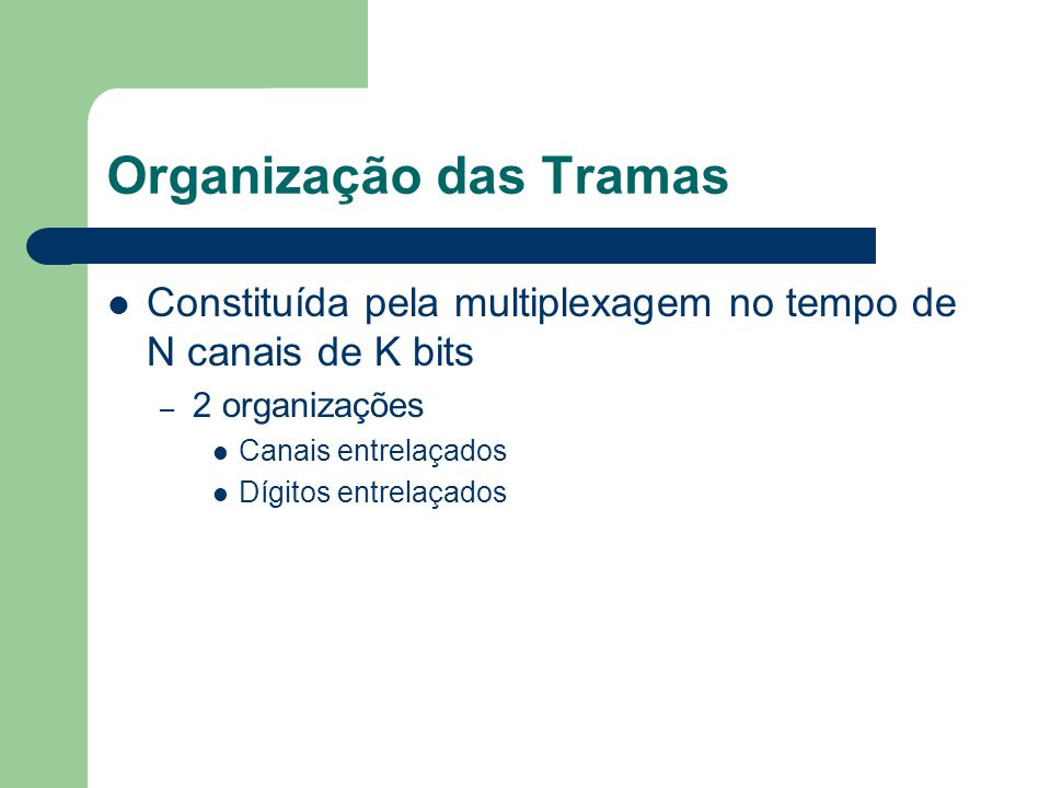 Organização das Tramas