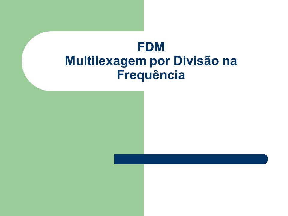 FDM Multilexagem por Divisão na Frequência