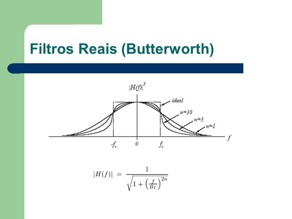 Filtros Reais (Butterworth)