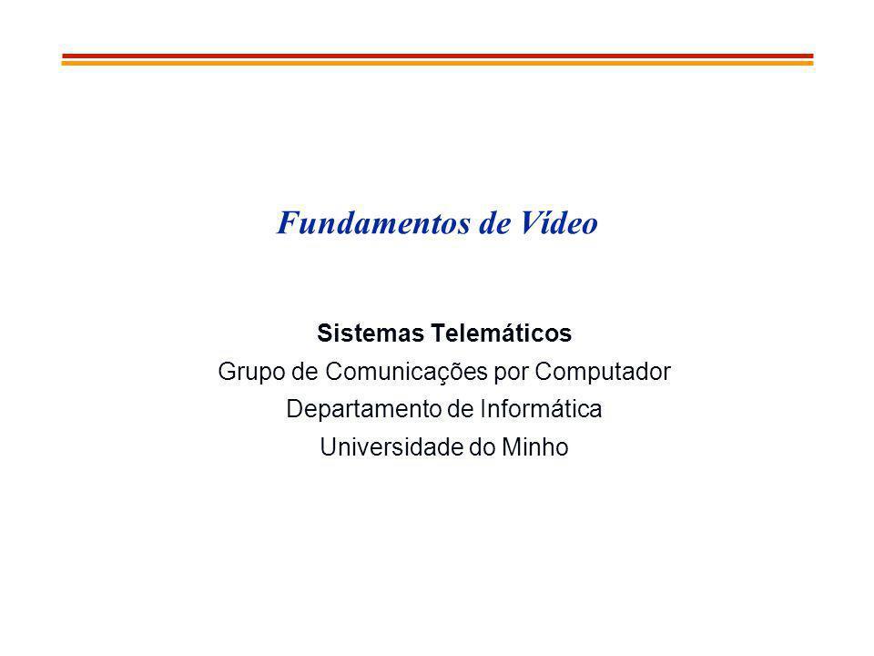 Fundamentos de Vídeo Sistemas Telemáticos