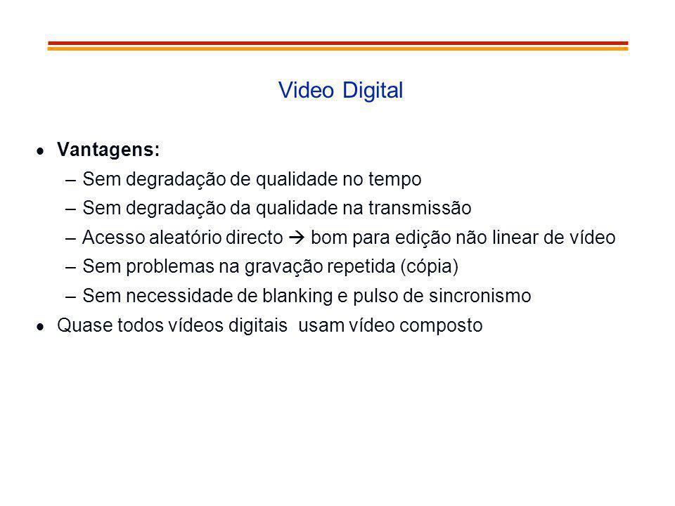 Video Digital Vantagens: Sem degradação de qualidade no tempo