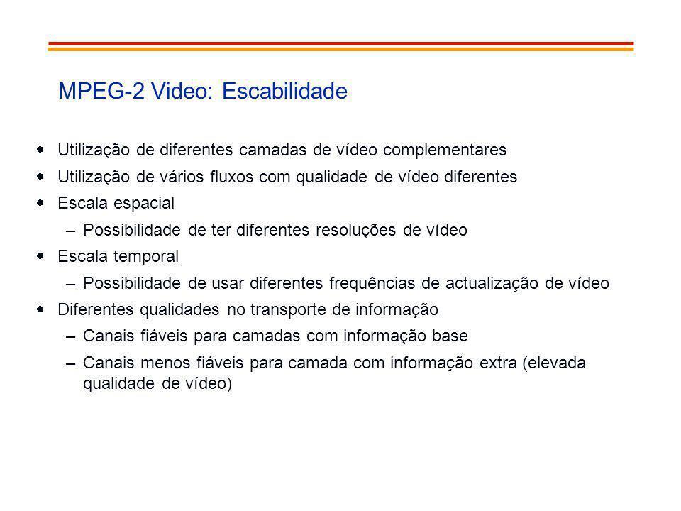 MPEG-2 Video: Escabilidade