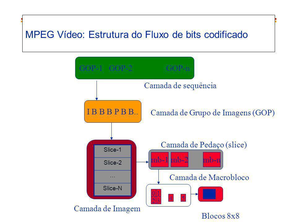 MPEG Vídeo: Estrutura do Fluxo de bits codificado