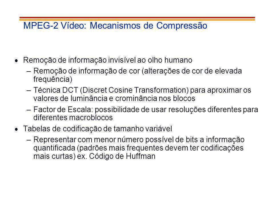 MPEG-2 Vídeo: Mecanismos de Compressão