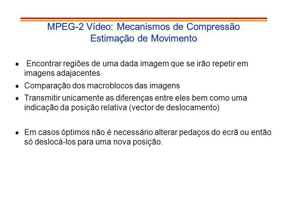 MPEG-2 Vídeo: Mecanismos de Compressão Estimação de Movimento