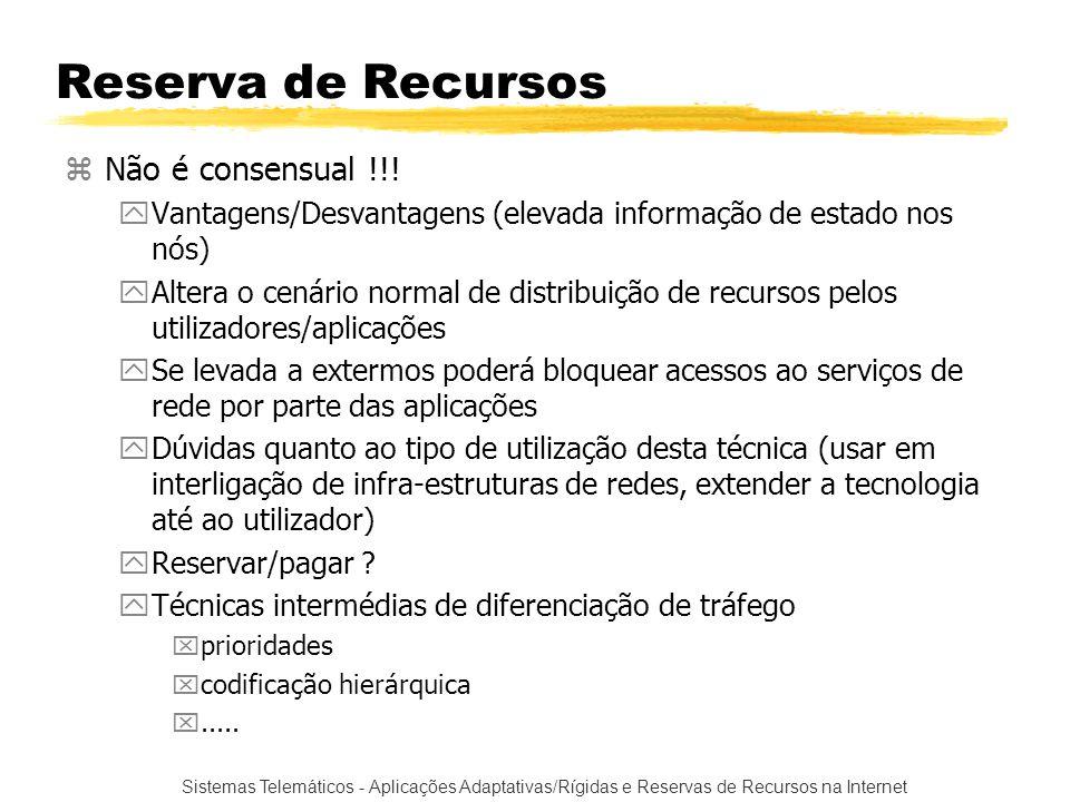 Reserva de Recursos Não é consensual !!!