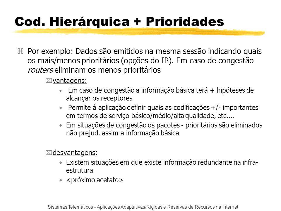 Cod. Hierárquica + Prioridades