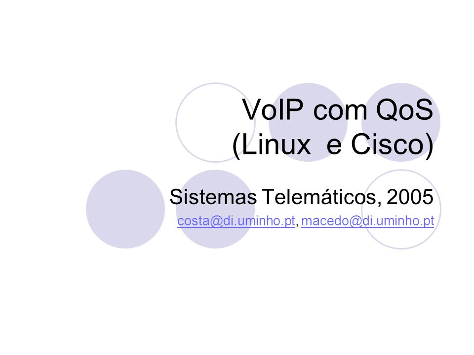 VoIP com QoS (Linux e Cisco)