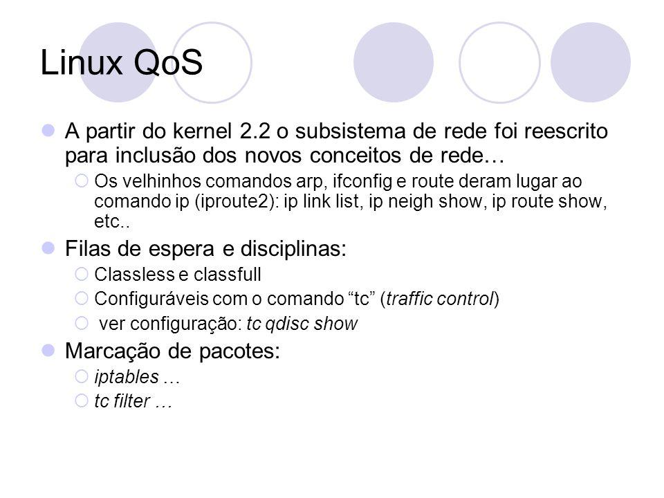 Linux QoS A partir do kernel 2.2 o subsistema de rede foi reescrito para inclusão dos novos conceitos de rede…