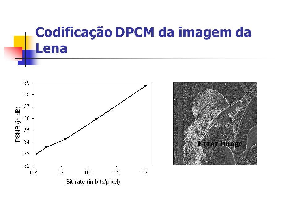 Codificação DPCM da imagem da Lena