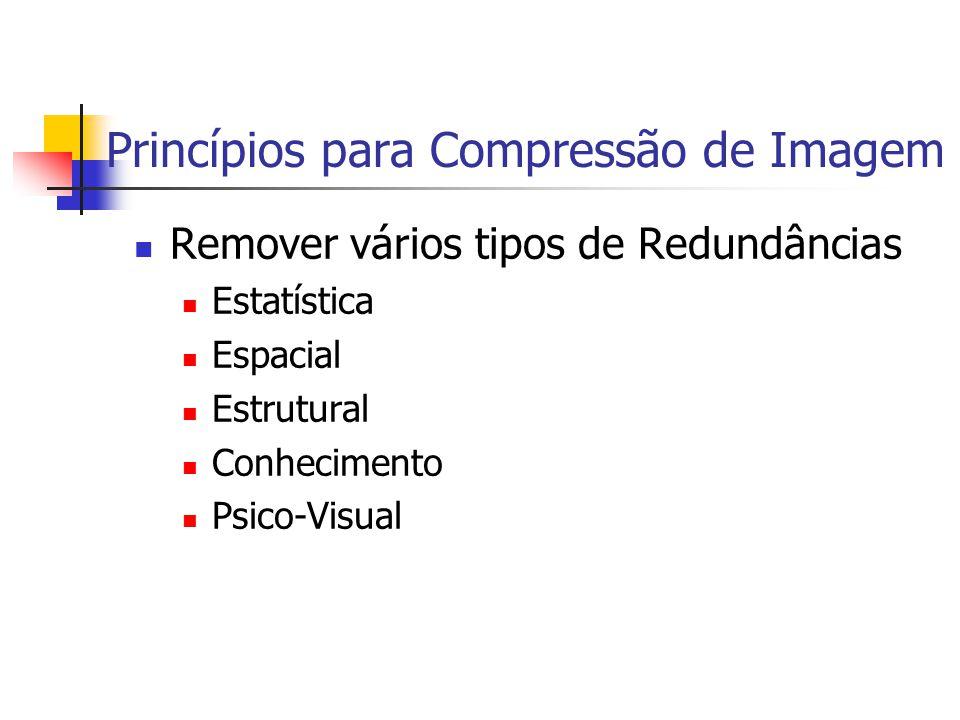 Princípios para Compressão de Imagem