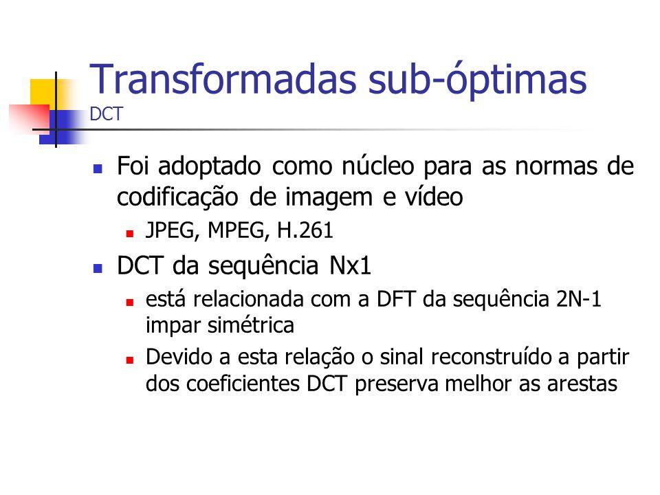 Transformadas sub-óptimas DCT